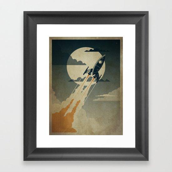 Night Launch Framed Art Print