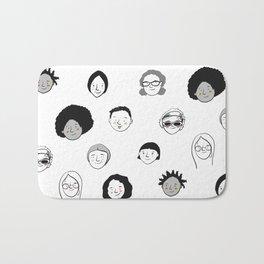 Women's faces Bath Mat