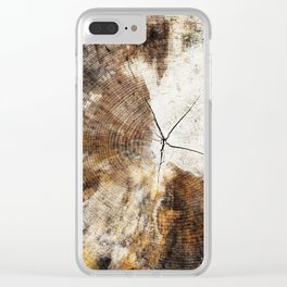 Tree Stump Ring Clear iPhone Case