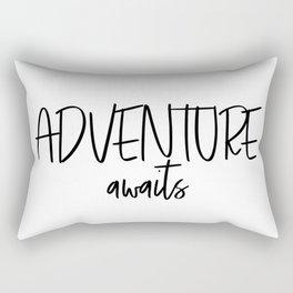 Adventure Awaits Wall Decor, Digital Art Rectangular Pillow