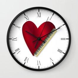 Love Playing Piano Wall Clock