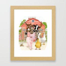 The Farm Framed Art Print