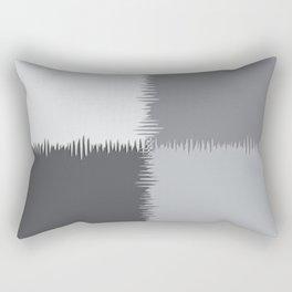 QUARTERS #1 (Grays) Rectangular Pillow