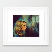 tyler spangler Framed Art Prints featuring Rose Tyler by Alea Lefevre