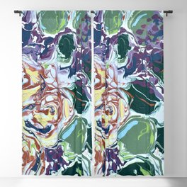Patience: An Abstract Floral Painting Blackout Curtain
