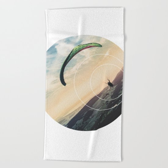 Skydive Gravity - Geometric Photography Beach Towel