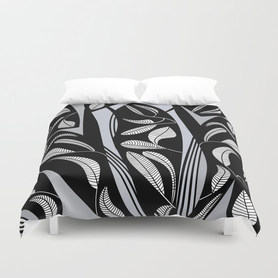 leaves in the leaves Duvet Cover