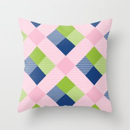 Geometrical Square Abstraction 25 Throw Pillow