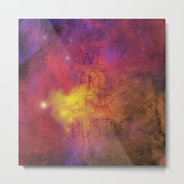 Nebula (Text) Metal Print