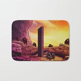 Ape Men meet Monolith - 2001 A Space Odyssey Bath Mat