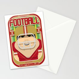 American Football Red and Gold - Enzone Puntfumbler - Victor version Stationery Cards