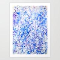 splatter Art Prints featuring splatter by From Roxy