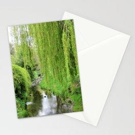Early Spring Green Stationery Cards