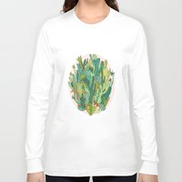 cacti Long Sleeve T-shirts featuring Cacti by Gaby D'Alessandro