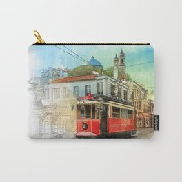 Old tram in Istanbul Carry-All Pouch