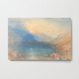 The Lake of Zug by Joseph Mallord William Turner 1843, British Metal Print