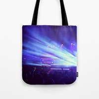 concert Tote Bags featuring Concert Lights by Tyler Shaffer