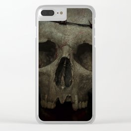 The victim Clear iPhone Case