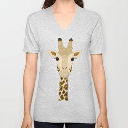 Golden Glitter Giraffe Unisex V-Neck