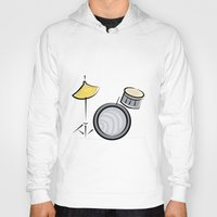 drum Hoodies featuring Drum Set by shopaholic chick
