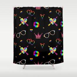 LGBTQ icons pattern Shower Curtain