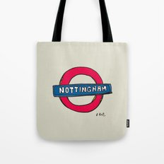 tube sign Tote Bag
