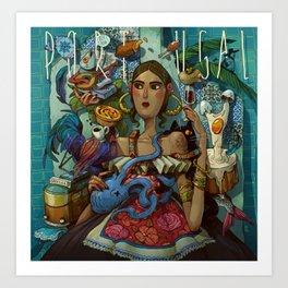 Portugese Livin Art Print
