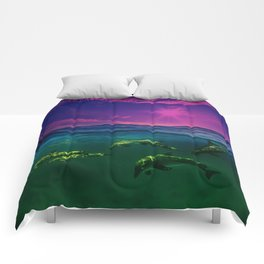Dreaming Of Dolphins Comforters
