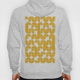 Mid Century Modern Geometric Pattern Yellow Hoody