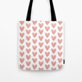 I Heart You in Pink and Coral Tote Bag