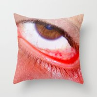 fries Throw Pillows featuring Fries by AsoMohammadi