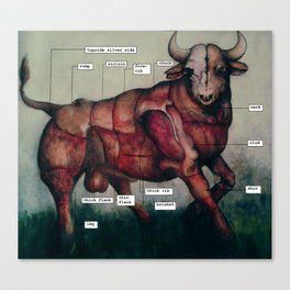 mapping a bull Canvas Print