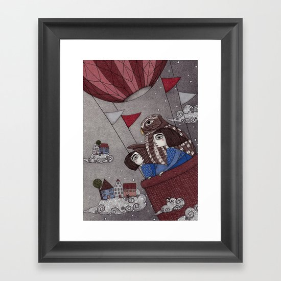 Through the Clouds and Back Again Framed Art Print