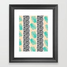 Palm Leaf Abstract Framed Art Print