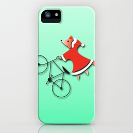 Christmas fox iPhone Case
