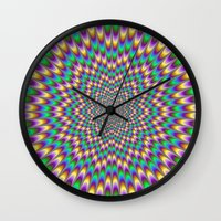bender Wall Clocks featuring Eye Bender by Objowl