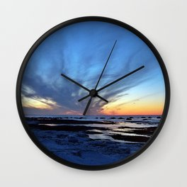 Cloud Streaks at Sunset Wall Clock