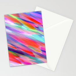 Colorful digital art splashing G399 Stationery Cards