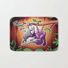Opossum and Bat in Love Bath Mat
