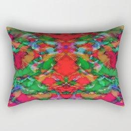 Interlocking ghosts red Rectangular Pillow