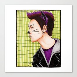 Punk Cat Canvas Print