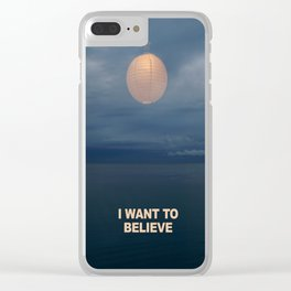 I WANT TO BELIEVE - IKEA RMX Clear iPhone Case