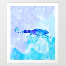 Abstract Chameleon Reptile Art Print