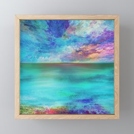 Ocean at Sunrise Framed Mini Art Print