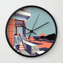 Sunset at the Getty Wall Clock