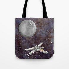 A War in the Stars in Watercolors Tote Bag