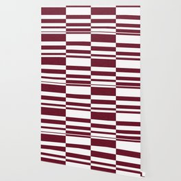 Abstract striped pattern.white and Burgundy . Wallpaper