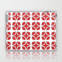Mid Century Modern Star Pattern Red 551 Laptop & iPad Skin