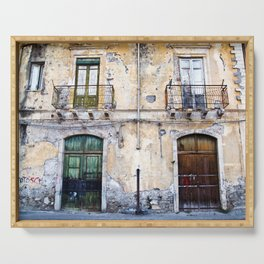 Antique Facade of Sicily Serving Tray