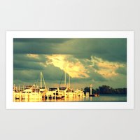 sail Art Prints featuring Lets Go For a Boat Ride by 2sweet4words Designs